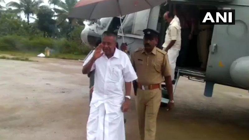 Kerala CM Pinarayi Vijayan undertakes aerial survey of flood-hit districts