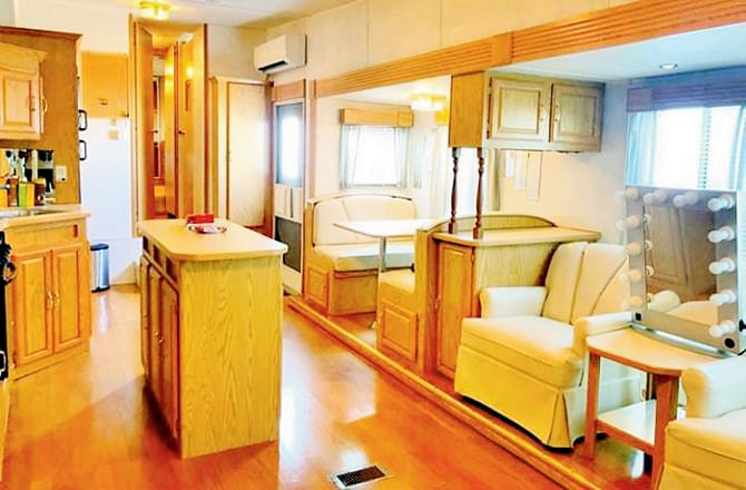 Salman Khan's luxurious vanity van is a dream of every actor; check out inside pictures