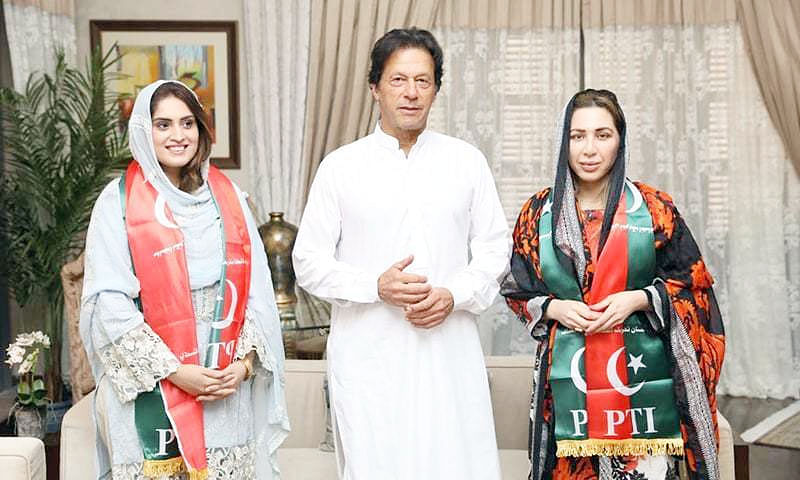 Mehrunnisa Hayat joins stepdad Imran Khan's PTI