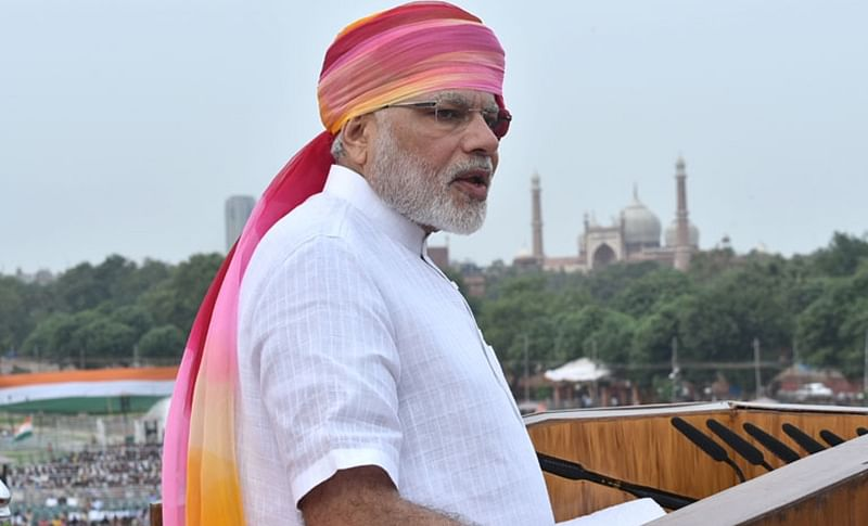 PM Narendra Modi addressing the Nation on the occasion of 70th Independence Day from the ramparts of Red Fort.
