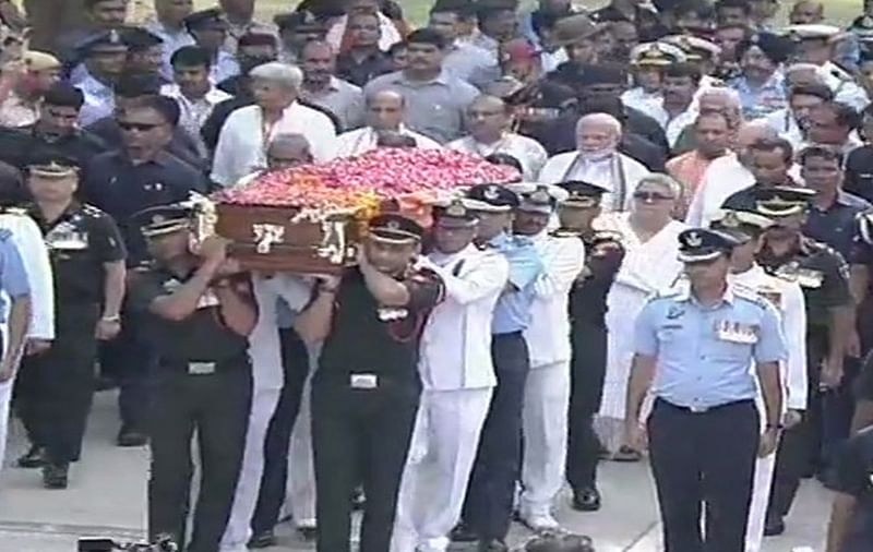 Atal Bihari Vajpayee's final journey begins
