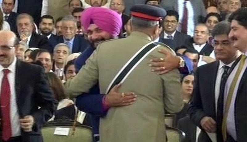 Navjot Singh Sidhu's hug to Pakistan army chief Bajwa turns into controversy