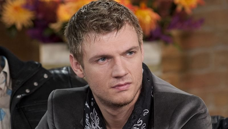 EDITORIAL USE ONLY / NO MERCHANDISING Mandatory Credit: Photo by Ken McKay/REX/Shutterstock (1048612bh) Backstreet Boys - Nick Carter 'This Morning' TV Programme, London, Britain.  - 25 Nov 2009 A few weeks ago, the Backstreet Boys popped in to the studio, to tell Phillip and Holly about getting back together, being back on the road, and their new album.