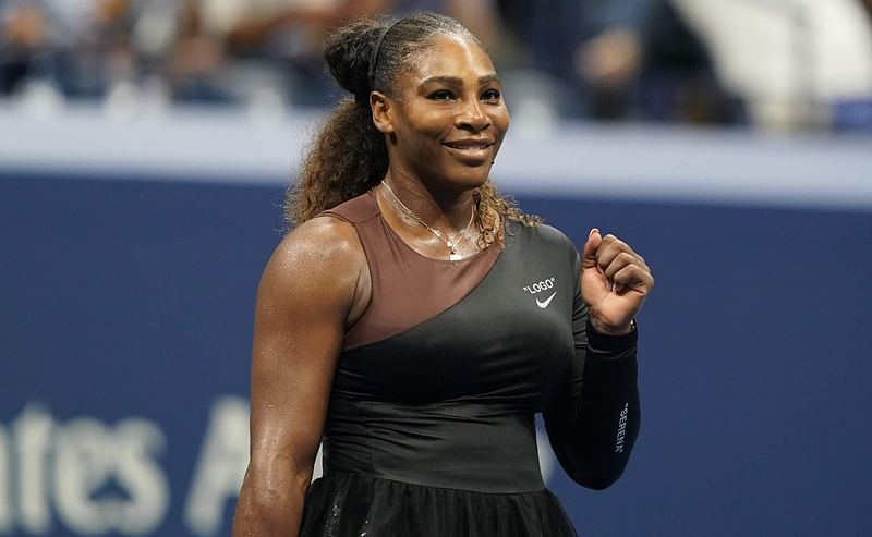 Serena Williams celebrates her victory over Magda Linette during their 2018 US Open Women's Singles match. Photo by Don EMMERT / AFP
