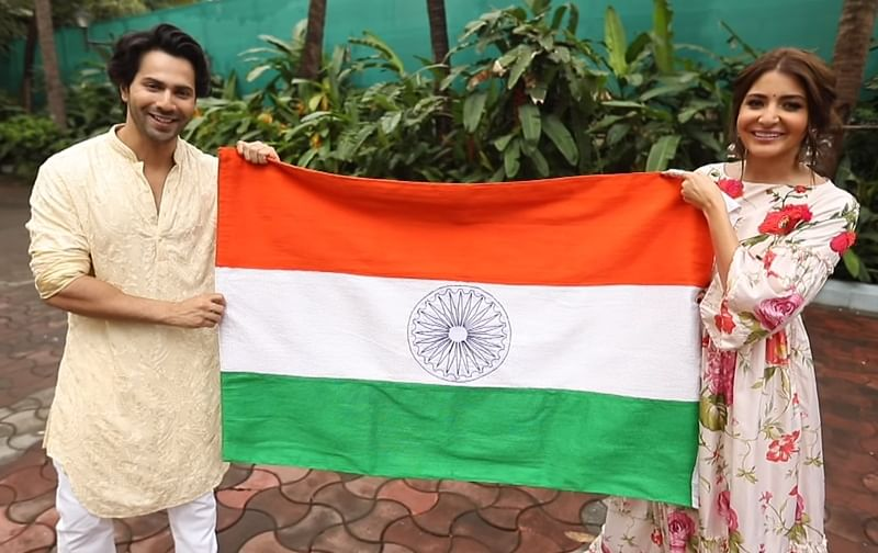 Anushka Sharma – Varun Dhawan celebrate Independence Day in Sui Dhaaga style; watch video