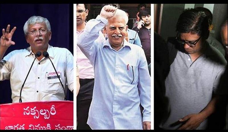 Bhima Koregaon raids: Varavara Rao, Vernon Gonsalves and Arun Ferreira brought in Pune court