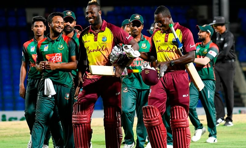 West Indies vs Bangladesh 1st T20I: Williams, Russell shine as hosts beat Bangladesh by 7 wickets