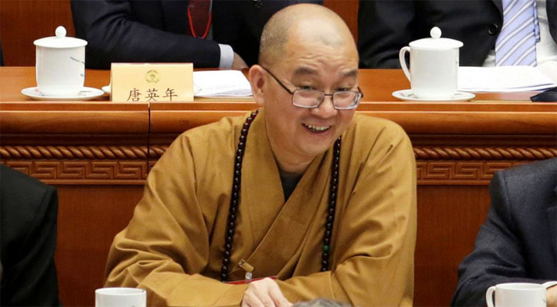 China's head Buddhist monk quits in sex probe