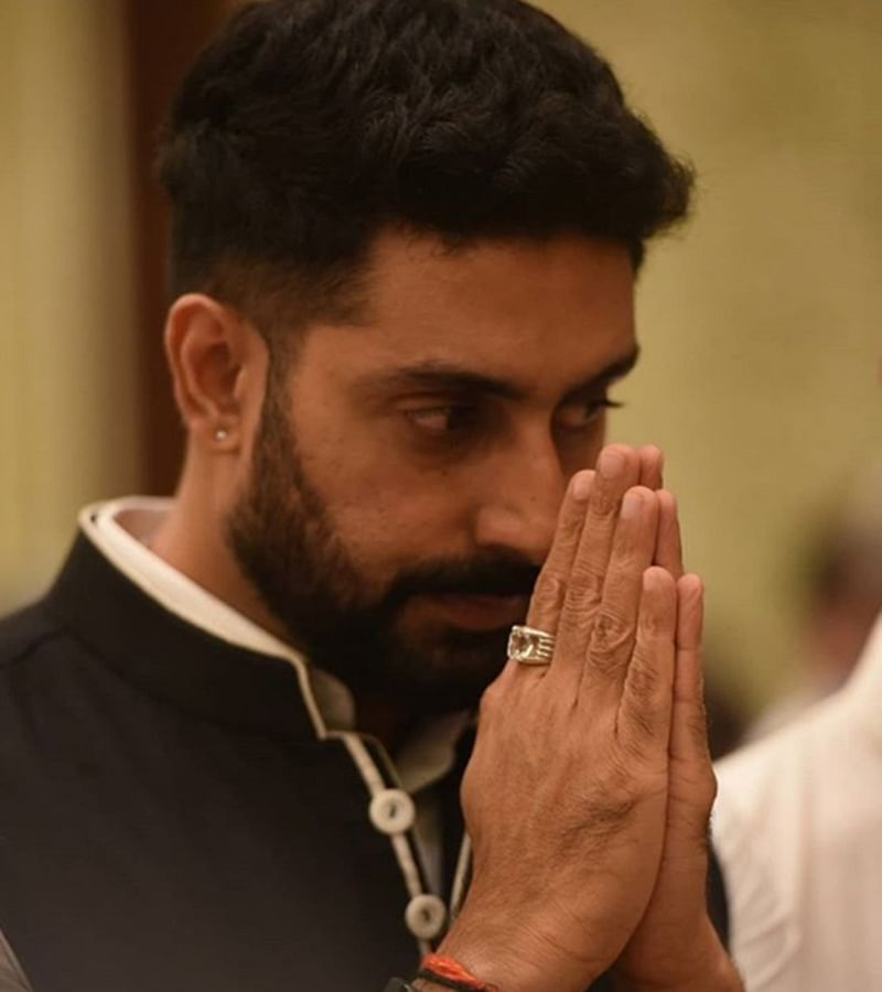Abhishek Bachchan, brother-in-law Nikhil Nanda immerse Rajan Nanda's ashes in Haridwar