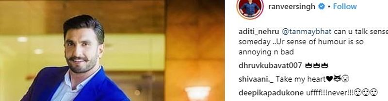 Deepika Padukone's comment on Ranveer Singh's post will raise your eyebrows; check out