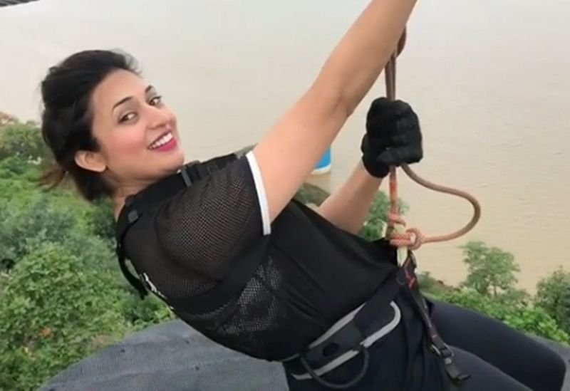 Divyanka Tripathi goes zip lining in Bhopal with a 'special person' and it's not Vivek Dahiya