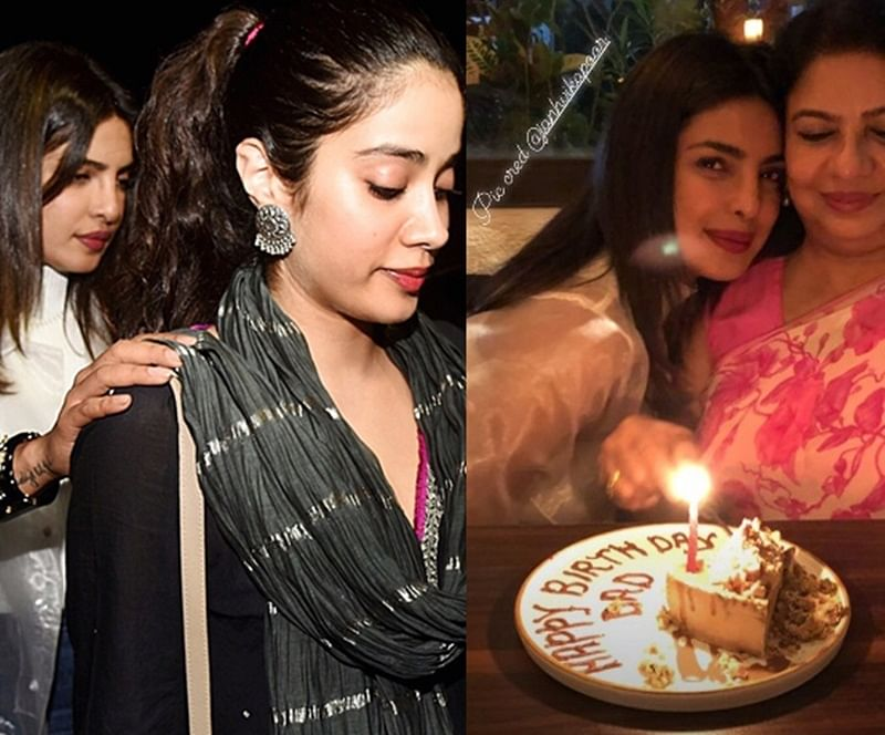 Girls night out! Priyanka Chopra and Janhvi Kapoor bond on late Dr Ashok Chopra's birthday