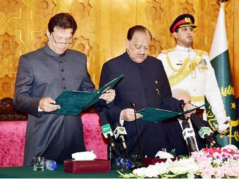 Imran takes oath as Pakistan Prime Minister