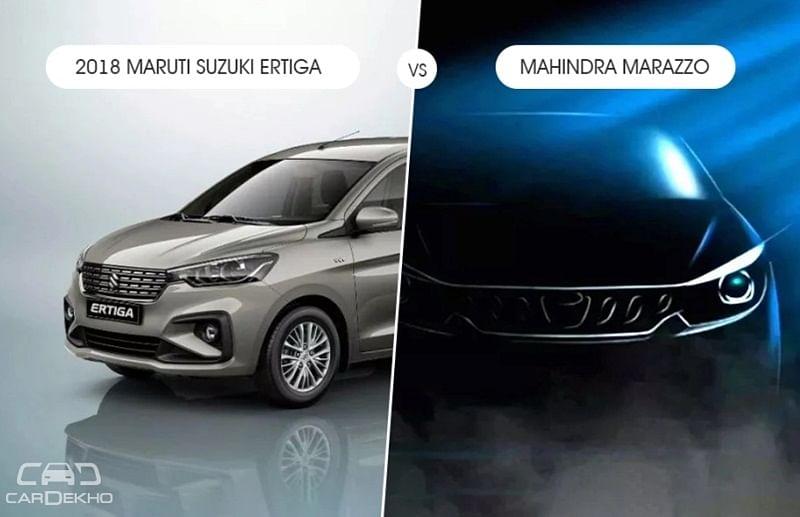 2018 Maruti Suzuki Ertiga vs Mahindra Marazzo – What To Expect?