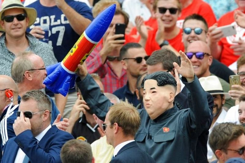 Spotted! Is that Kim Jong-un enjoying thrilling contest between Indian bowlers and English batsmen? See pics