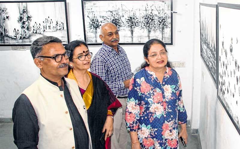 Santosh Shrivastava's work is fusion of art and architectural designs