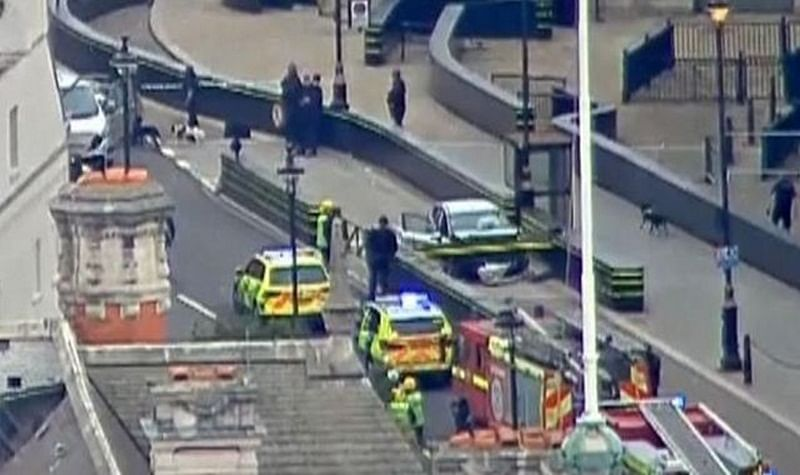 Car crashes outside British Parliament, man arrested is suspected of terror offences: Police