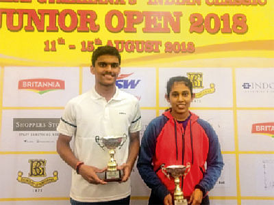 Unseeded Yash Fadte, Sanya Vats clinch Junior squash titles
