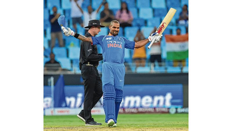 Shikhar Dhawan: The man of the tournament at the Asia Cup, Shikhar Dhawan has a knack of coming good in big events. He had a memorable 2015 World Cup. More significantly, he has an excellent ODI record in England on the back of two wonderful Champions Trophy events over there. The fact that the 2019 World Cup will also be held in the same country augurs well for him. (Photo by Ishara S. KODIKARA / AFP)