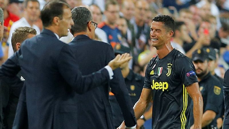 Champions League 2018: Massimiliano Allegri bemoans lack of VAR after Cristiano Ronaldo sees red for Juventus