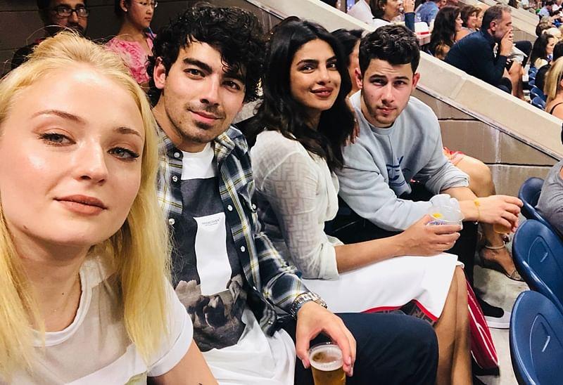 'Fam-Jam' at US Open: Priyanka Chopra-Nick Jonas enjoys double with Joe Jonas and Sophie Turner; See pics