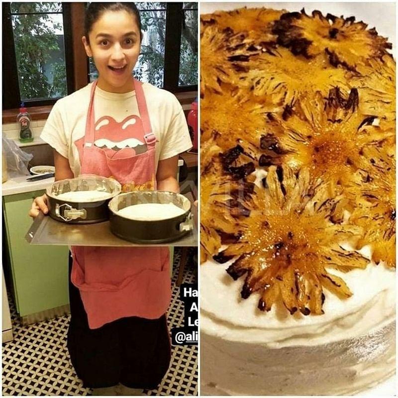Alia Bhatt bakes a special birthday cake for Ranbir Kapoor; see pics