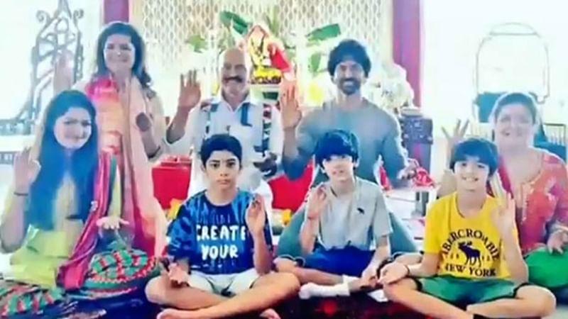 In Pics: Hrithik Roshan celebrates Ganesh Chaturthi with family