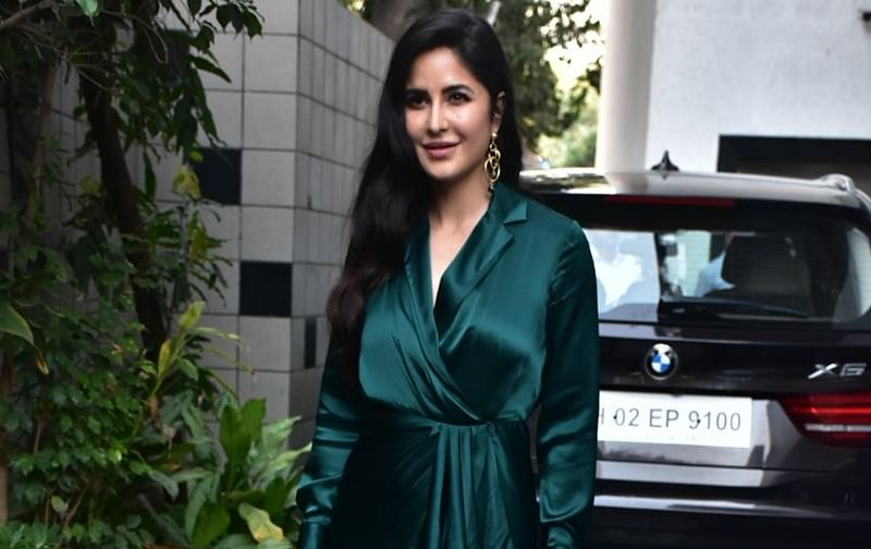 In pictures! Katrina Kaif slays in her emerald green wrap around dress