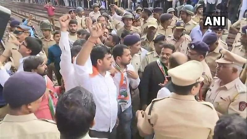 Maharashtra: Opposition targets buses while staging protests against fuel prices hike