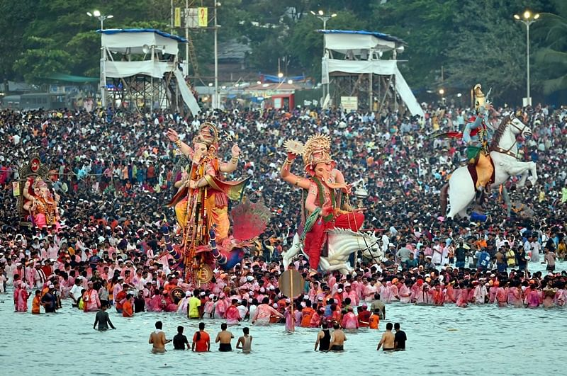 See Pics! Photographers capture the spirit of Lord Ganesha Visarjan on Anantha Chaturdashi 2018