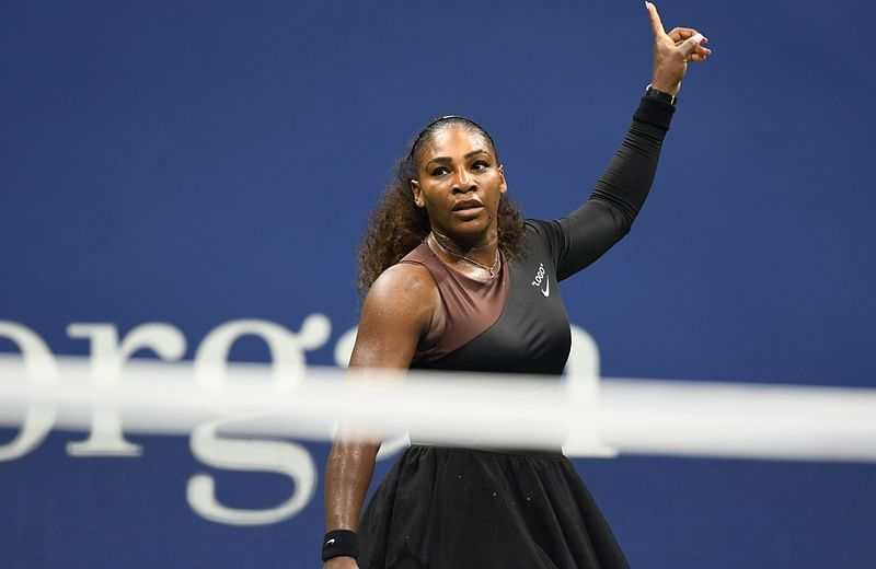 Serena Williams during her Women's Singles Quarter-Finals match at the 2018 US Open. Photo by Don EMMERT / AFP