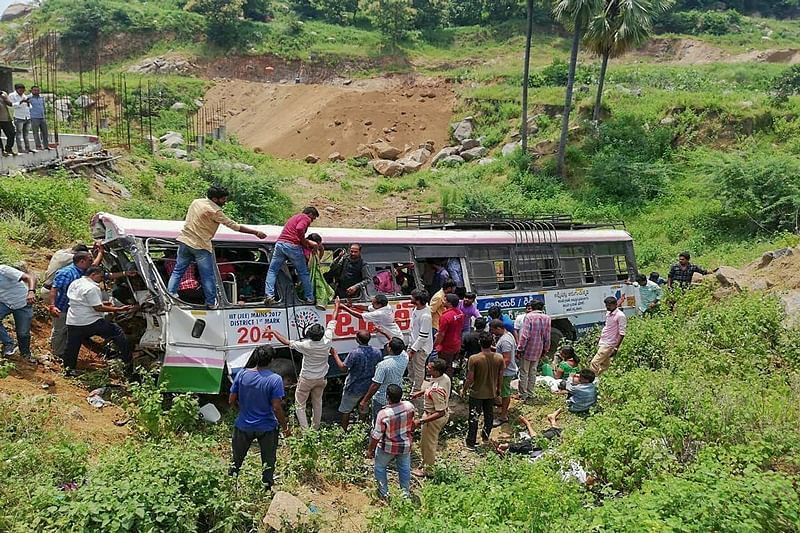 Death toll rises to 57 in Telangana bus accident, KCR announces Rs 5 lakh ex-gratia