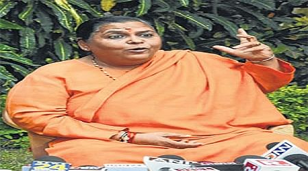 Bhopal: Uma stands firm, denies contesting elections
