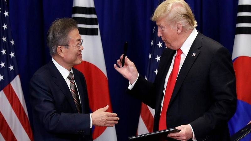 Donald Trump signs revised South Korean trade deal