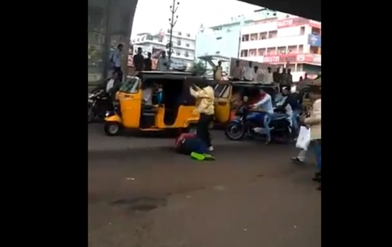 Hyderabad: Man hacked to death on busy road in front of police