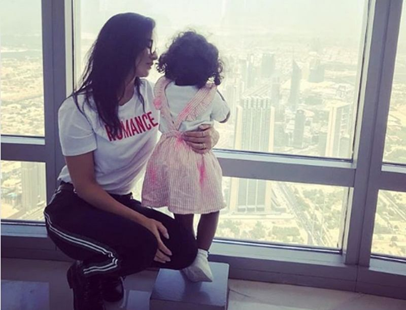 Sunny Leone  shares adorable picture with little angel Nisha Kaur Weber; See here