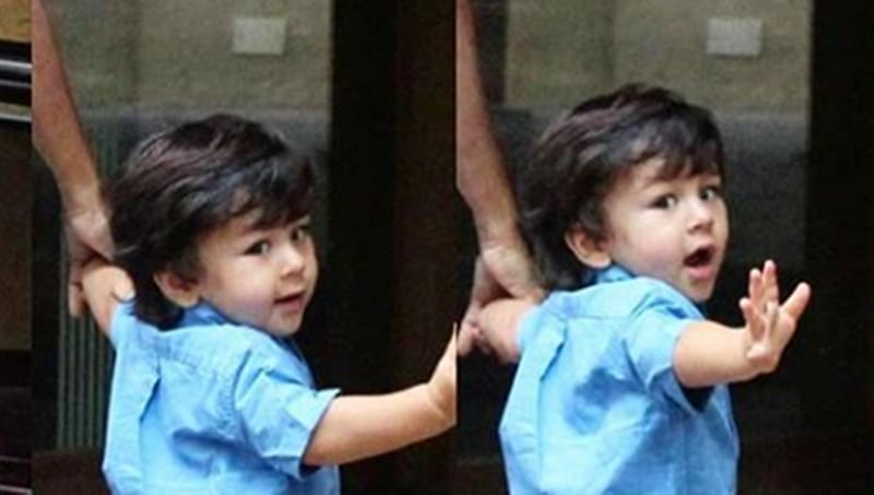 Clicked! Taimur waving at paprazzis is most delightful moment one can't miss; see pic