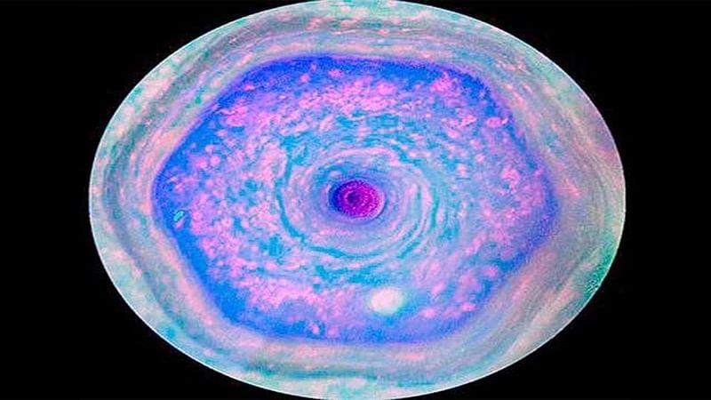 Scientists spot new six-sided jet stream at Saturn's north pole