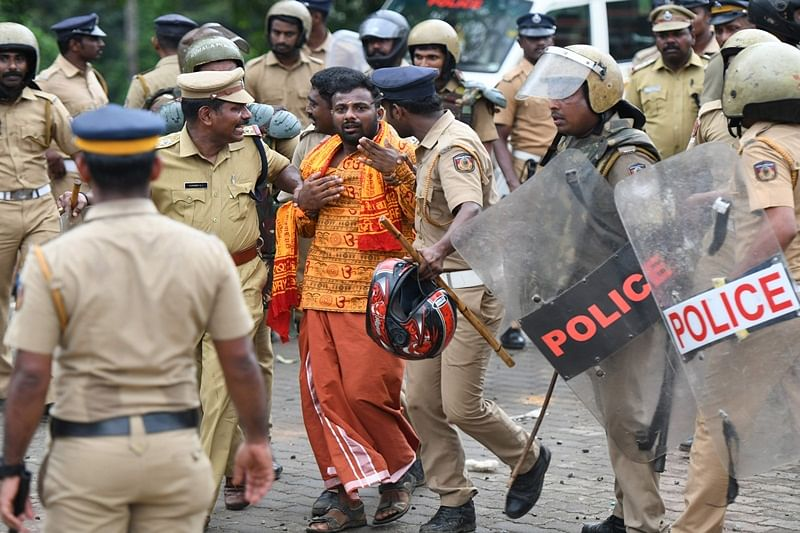 Sabarimala row: Kerala police issues lookout notice for 210 people for instigating violence