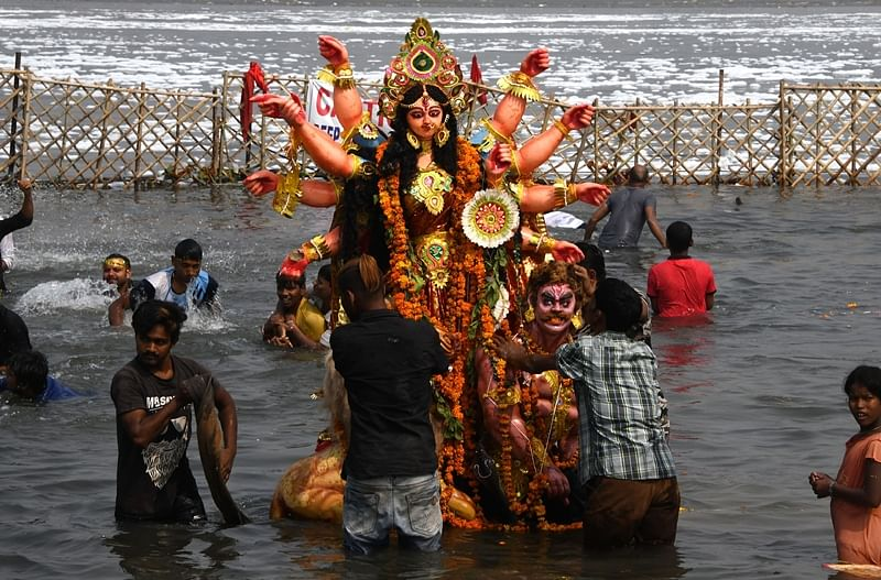 Four killed in West Bengal as boat capsizes during Durga idol immersion