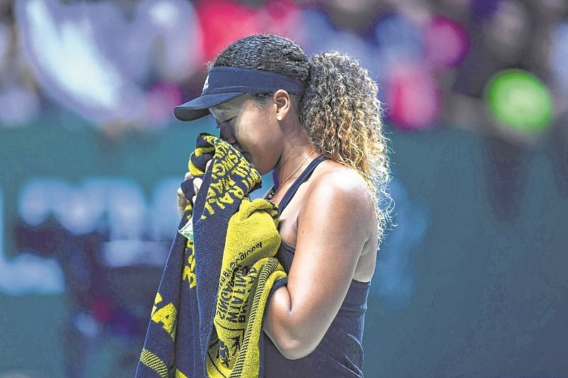 WTA Finals : Tearful Naomi Osaka retires