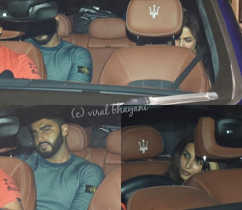 New couple in B-town? Arjun Kapoor, Malaika Arora spotted together in the same car; see pics