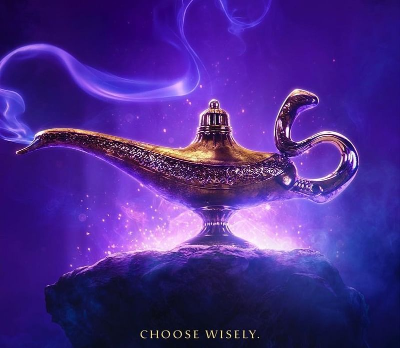 Will Smith uncovers first 'Aladdin' poster and it is indeed magical