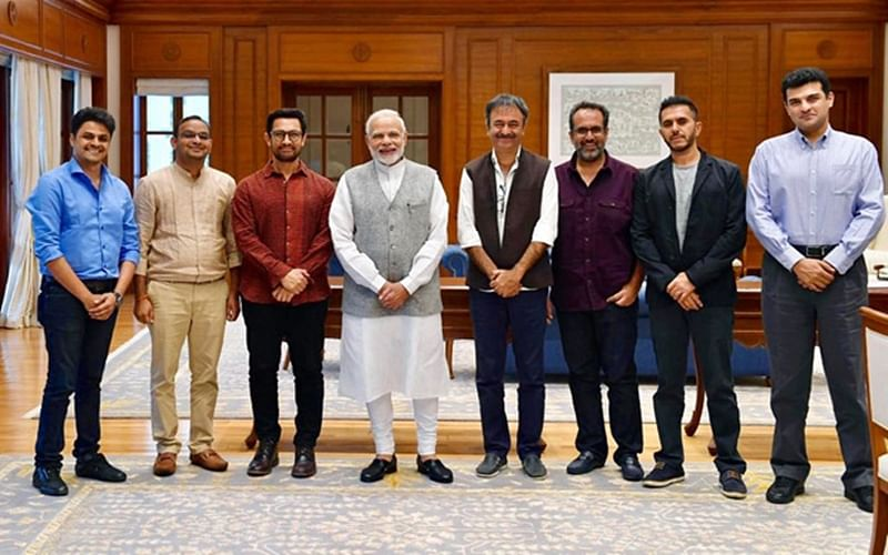 In Pictures! Aamir Khan, Rajkumar Hirani, Ritesh Sidhwani and others meet PM Narendra Modi and this was their request
