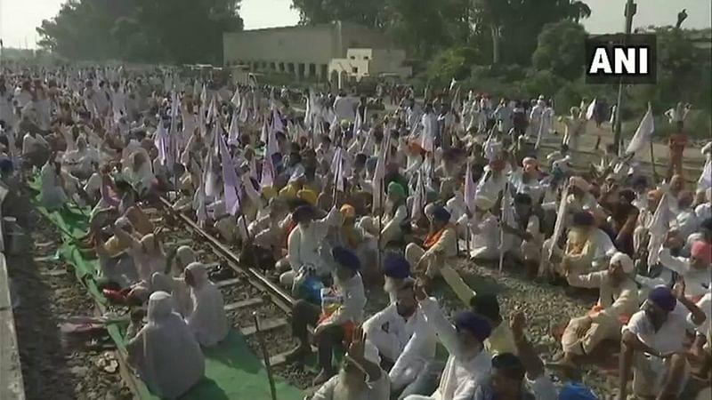 Punjab: Farmers hold rail-roko agitation; few passenger trains cancelled