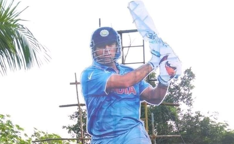 India vs West Indies: Fans welcome 'Thala' MS Dhoni with 35-foot cut-out ahead of 5th ODI; watch video