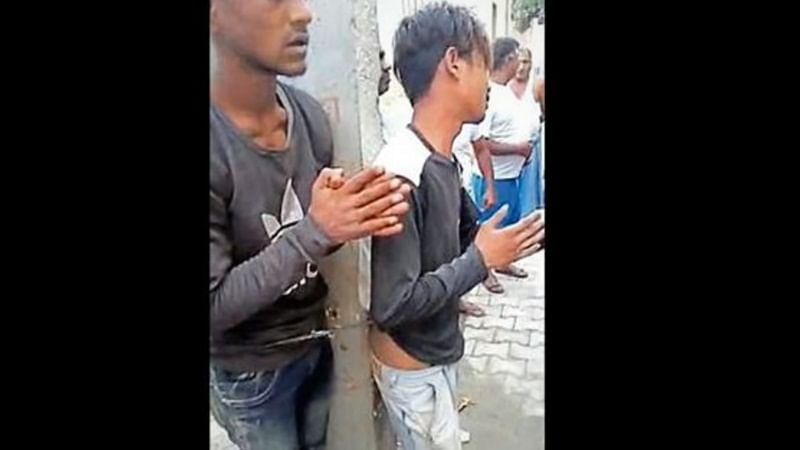 Uttar Pradesh: Two youth beaten with belts for theft, tied to electricity pole in Ghaziabad