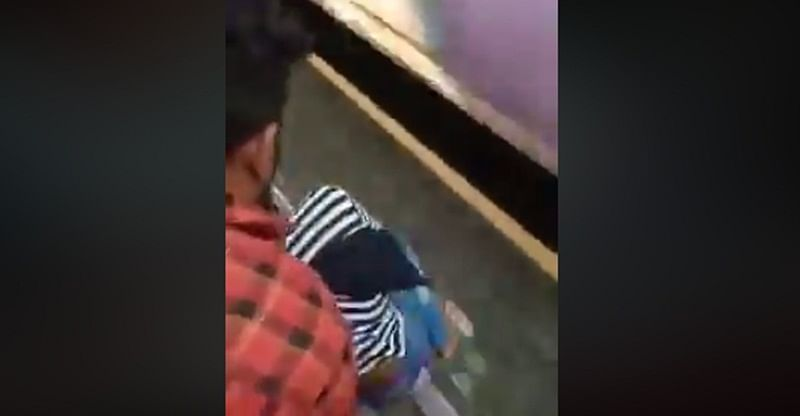 Mumbai: This shocking video of girl's miraculous rescue after falling off speeding train is going viral