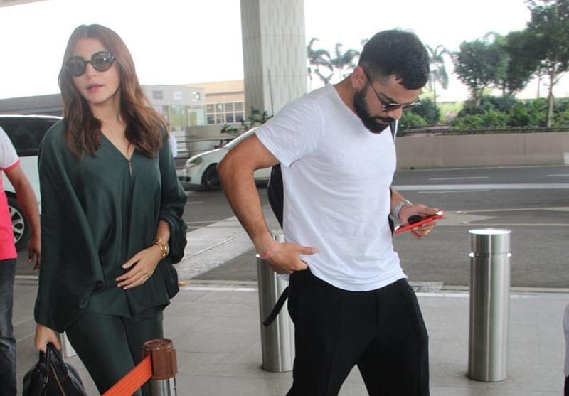 Virat Kohli and Anushka Sharma walk hand in hand as they head to Hyderabad; see pics