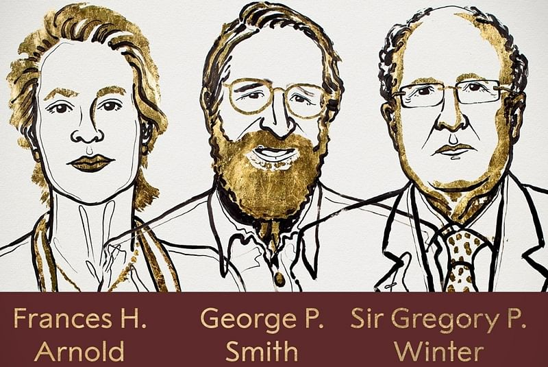 Nobel Prize in Chemistry is awarded to Frances Arnold, Georg Smith, Sir Gregory Winter